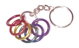 Pride Key Ring Pendant