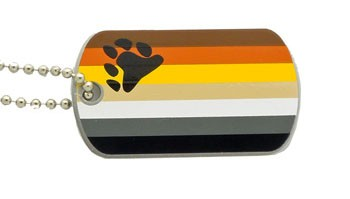 Dog Tag Bear Flag