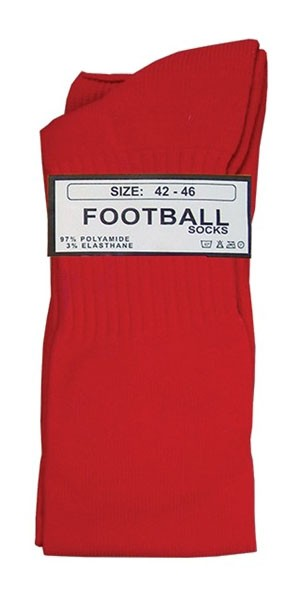 Football Socks, red, 42/46
