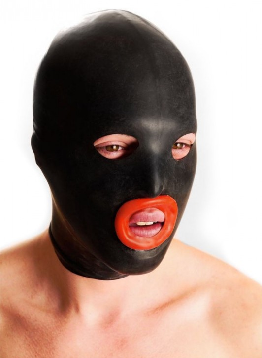 Rubber Mask with red Mouth