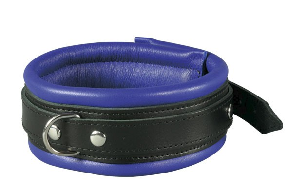 Leather Collar Classic, blue