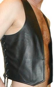 Leather Vest, laced