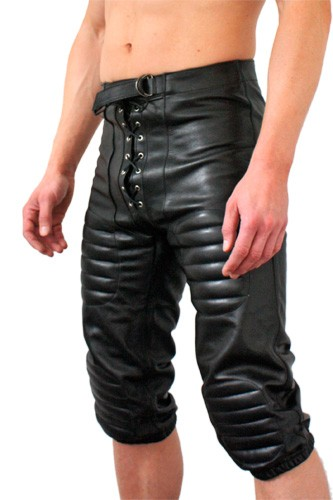Leather American Football Shorts