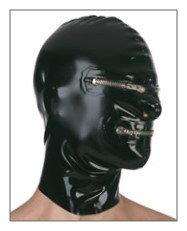 Latex Mask Zipper