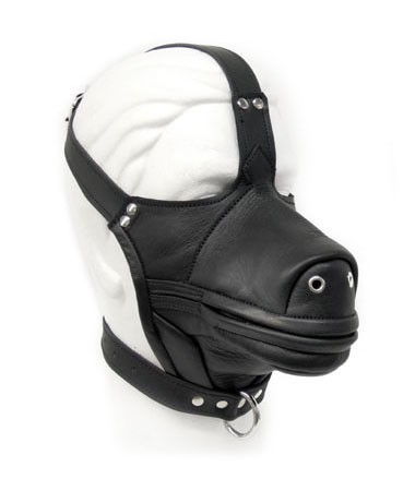 Leather Dog Mask black