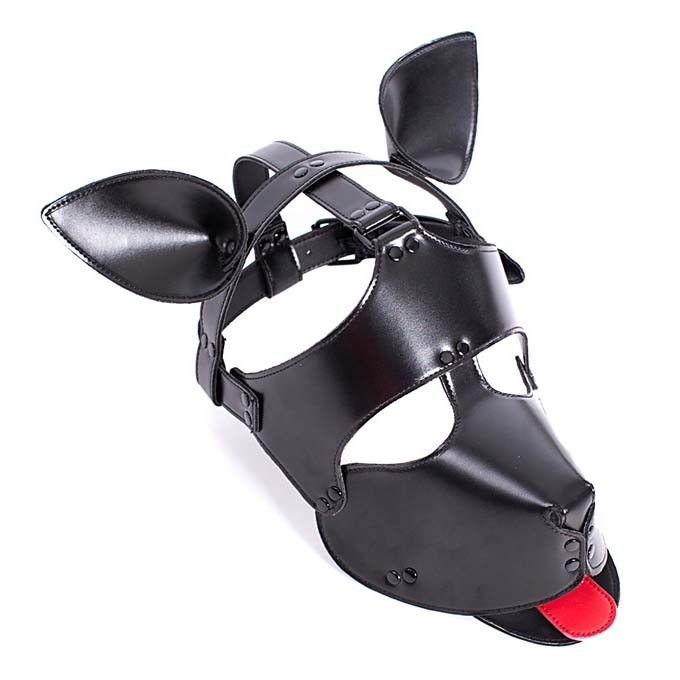 Leather Dog Hood