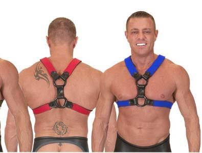 Neo Skin Harness, rot, Größe S/M