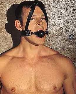 Leather Gag with Rubber Ball