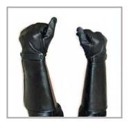 Stulpenhandschuh Leder