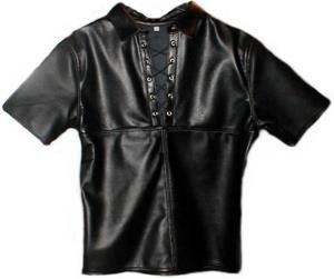 Leather Shirt with Zip