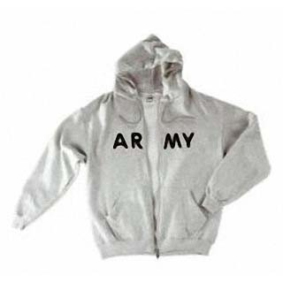 Zip Hooded Sweat, ARMY