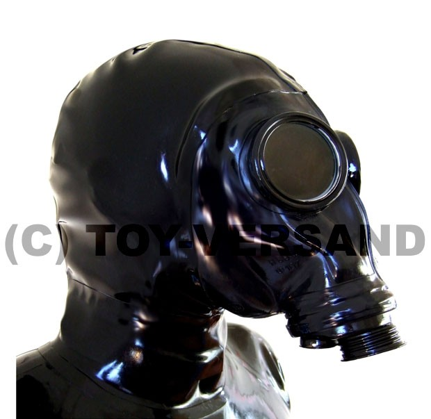 Heavy Rubber Zipper Mask