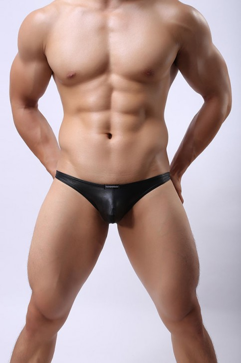 Open Back Brief Black