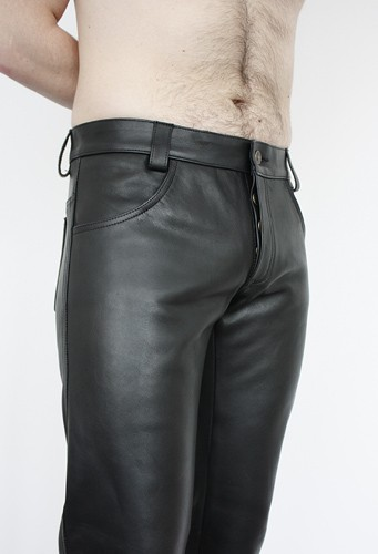 Leather Jeans Button