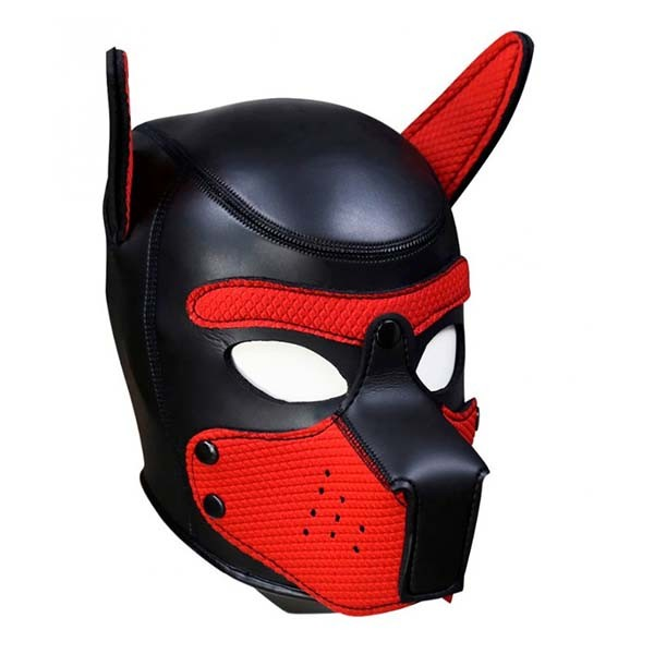 Neoprene Puppy Hood red
