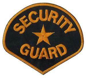 Aufnäher Security Guard