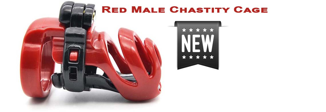 Red Male Chastity Cage Keuschheitskäfig