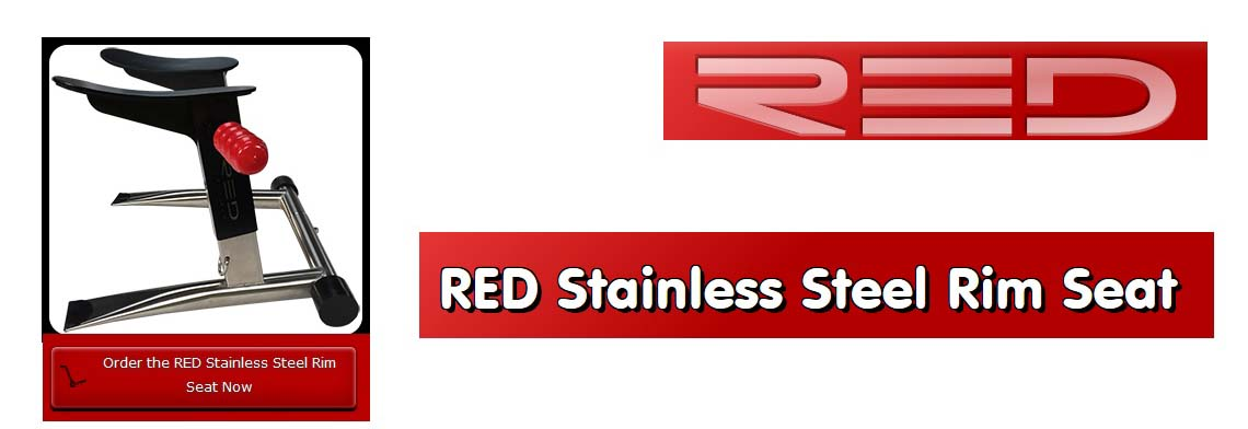 RED Stainless Steel Rim Seat