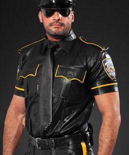 Lederhemd NYPD