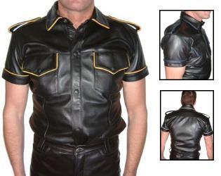 Lederhemd, kurzarm, coded