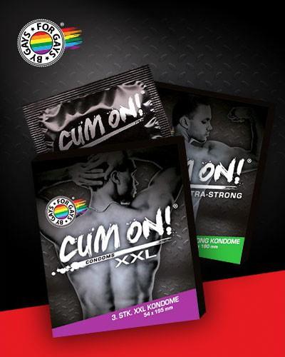 CUM ON Condom XXL, 3 Stück, Grundpreis EUR 1,30 / Stück