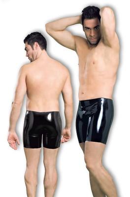 Latex Bermuda Shorts, M