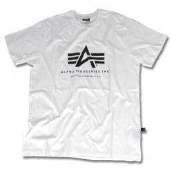 Alpha Industries T-Shirt, weiß, Größe M