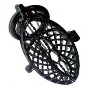 Black Twist Chastity Cage