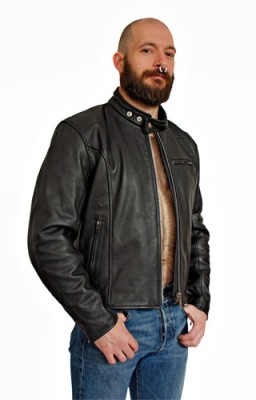 Motor Leather Jacket, S