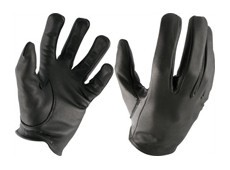 Leather Police Gloves, Größe M