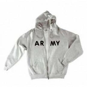 Zip Hooded Sweat, ARMY, Größe S