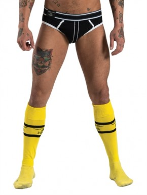 Football Socks with Pocket, yellow, 42/46