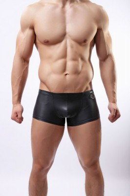 Black Fetish Boxer Shorts