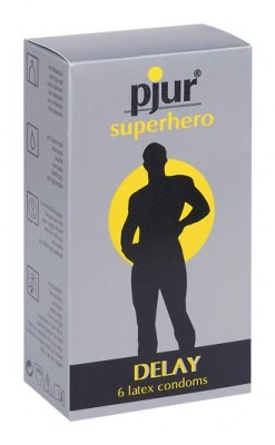 pjur superhero Delay Kondome, 6er